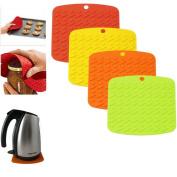1 Silicone Pot Holder Jar Opener Potholder Trivet Heat Flame Resistant 3In1 Gift