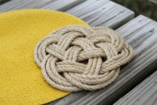 Latitude 38 Nautical Jute Rope Knot Trivet