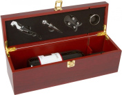 Wine Gift Box Set - Wooden for 1 Bottle - By Trademark Innovations