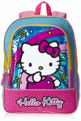 FAB Starpoint Little Girls' Hello Kitty Turquoise Stars 41cm Backpack