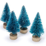 Sisal Tree - Green with Frost - 7.6cm - 10 pieces - Big Value
