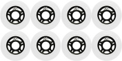 OUTDOOR Inline Skate Wheels ASPHALT Formula 72MM 89a WHITE x8