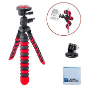30cm Inch Flexible Tripod w/ Wrapable Legs. Quick Release Plate for Great for All GoPro HERO Cameras + Tripod Mount & an eCostConnection Microfiber Cloth