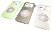 Samsonite Ultra Soft Silicone Skin Case for Apple iPod Nano 1st Generation & 2nd Generation Protective Cover in Translucent Green, Smoke & Clear, 3-Pack