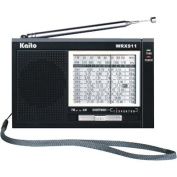 Kaito Electronics Inc. WRX911BLK Analogue AM/FM/SW World Receiver - Black