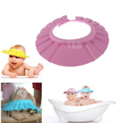 YKS 1 PCS Adjustable Soft Baby Kids child Children Shampoo Bath Shower wash hair Waterproof Eye Shield Cap Hat Shield sun cap Tub Bathtub Visor for Toddler