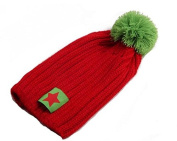 Cute Unisex Baby Pentagram Winter Beanies Knit Hat,Red
