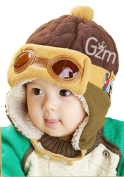 Demarkt Baby Girls/Boys Winter Warm Hat Infant Beanie Cap Fleece Colour Split Earflap
