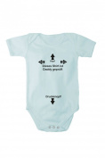 Romper baby bodysuit .This shirt is Daddy-proof. Free bib