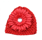 Demarkt Baby Girl Handmade Hat Daisy Flower Diamante Cap Knitted Infant Beanie
