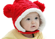 Demarkt Baby Girls/Boys Yarn Knitted Winter Hat Infant Warm Crochet Braided Beanie Cap