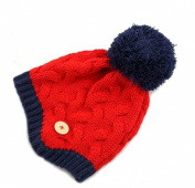 Demarkt Knitted Earflap Hat Babys Boys Girls Cold Weather Cap Beanie Red