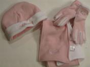 N Y Jets 3 Piece Accessories Set Hat, Gloves & Scarf Girls Pink