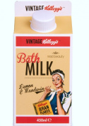 Retro Vintage Kellogg's BATH MILK, Lemon and Mandarin, Bath Time Gift