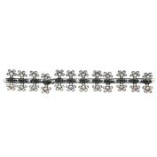 12 Pcs Sweet Girls Crystal Rhinestone Flower Shape Mini Claw Clamp Hair Jewellery