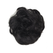 Black Faux Synthetic Hair Scrunchies