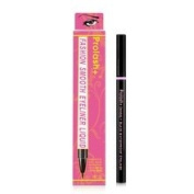 Prolash + Densely Jet Black Liquid Eyeliner- Smooth Waterproof Liquid Eye Liner Gel Thin Tip- Pink Box