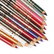 Davidsonne 12 Colours PVC Eyebrow Plastic Glitter Pencil Pen Cosmetic Makeup Set Kit Eyeliner