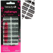 Beauty UK nail wraps no.06 - Lace Noir
