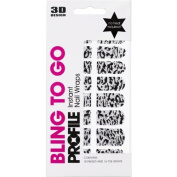 Salon System Nail Wraps Bling To Go Roll With It