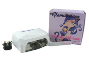 Glamourpuss Boutique® 12W LED UV Nail Lamp for Nail Curing (Ice White) -NEW 2014 EDITION- Includes FREE Glamourpuss Boutique® Crystal Glass Nail File - High Quality Professional CE Approved - Order by 2pm weekdays for SAME DAY DESPATCH