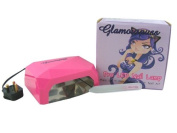 Glamourpuss Boutique® 12W LED UV Nail Lamp for Nail Curing (Hot Pink) -NEW 2014 EDITION- Includes FREE Glamourpuss Boutique® Crystal Glass Nail File - High Quality Professional CE Approved - Order by 2pm weekdays for SAME DAY DESPATCH