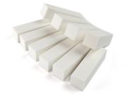 Well-Goal 10pcs White Buffer Buffing Sanding Block File Acrylic For Nail Art