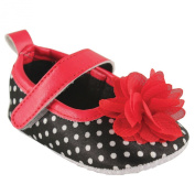 Luvable Friends Girls Floral Printed Non Slip Mary Jane Baby Booties Shoes