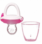 Munchkin Silicone Baby Food Feeder For Babies Tasting Pureed Foods For The First Time, Pink