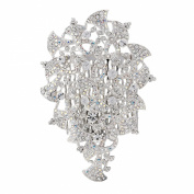 Gemini London's Crystal Bell Hair Comb with. Crystals, Rhodium Plated, Silver Effect Finish