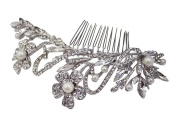 Flora Pearl and Crystal Comb