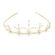 Golden Flower Design Tiara