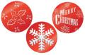 Eddingtons Set of 3 Christmas Cake Stencils