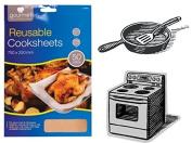 Non Stick Cooking Tray Sheet Oven Liner Protector Reusable Bakeware Cooksheet