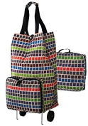 Ulster Weavers Collapsable Space Saving Shopping Trolley Bag in Mosiac Design 9MSI01