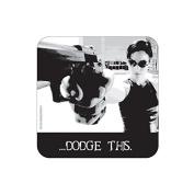 """DODGE THIS"" MATRIX Coaster - Film / Movie Themed Design"