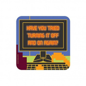 """""""TURNING IT OFF AND ON AGAIN"""" IT CROWD Coaster - TV / Television Themed Design"""