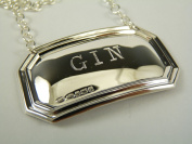 NEW Sterling Silver DECANTER / Wine Label - GIN - Boxed