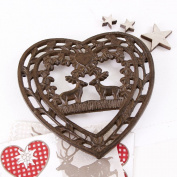 Cast Iron Kissing Deer Trivet 19 x 18.5cm - A Great Value 6th Anniversary Gift Idea