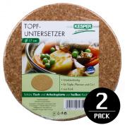 Kesper Round Hot pot Stand / Trivet in Cork - Set of 2 pieces 17 cm, EF940054
