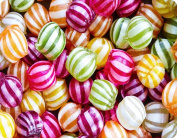 Large Glass Worktop Saver - Stripey Sweets - 50 x 40cm