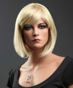 Forever Young Ladies Short Blonde Wig! Bob Style in 2 Tone Strawberry & Platinum Blonde Blend FREE Wig Cap