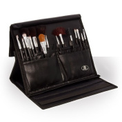 Makeup Brush Folder Professional Black Cosmetic Brushes Storage Holder