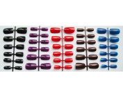 """Short to Medium"" Length Full Cover Multi-Coloured ""Dark"" False Nails - 120 from Pink-Candy"