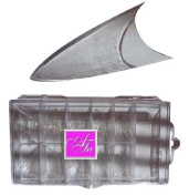 CLEAR STILETTO / CONE WELL LESS TIPS 250cm plastic box - nail acrylic gel