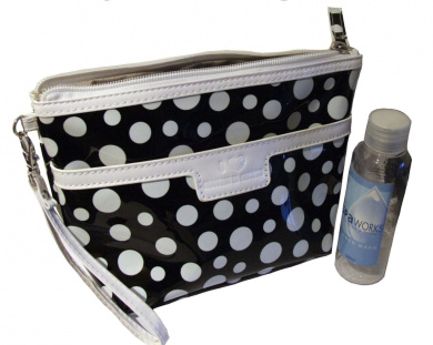 Black White Spotty Wash / Cosmetic Bag (Spotty Wash Bag)