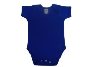 BabywearUK Body Vest Env Neck Short Sleeved - Royal blue - 18/24 months - British Made
