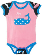 Hatley Baby Girls Infant Envelope Neck One Piece Whales Bodysuit
