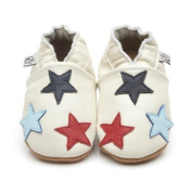 Soft Leather Baby Shoes Little Stars Cream 12-18 months