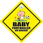 Baby Footballer Car Sign, Baby Footballer, Car Sign, Baby On Board Sign, baby on board, Novelty Car Sign, Baby Car Sign, Soccer Baby On Board